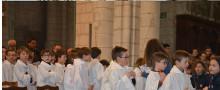 Les servants d'autel à Chatellerault le samedi 24 mars 2018